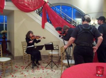 Carolina Strings performs on new wedding TV show.